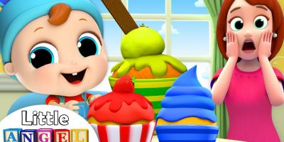 Baby's Snack Time!   Muffin Man Song   Nursery Rhymes by Little Angel