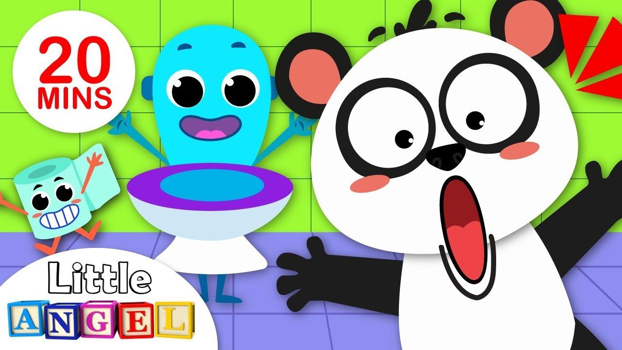 Baby Panda Potty Song | Johny Johny Yes Papa | Baby Shark Where is my Fin?  by Little Angel