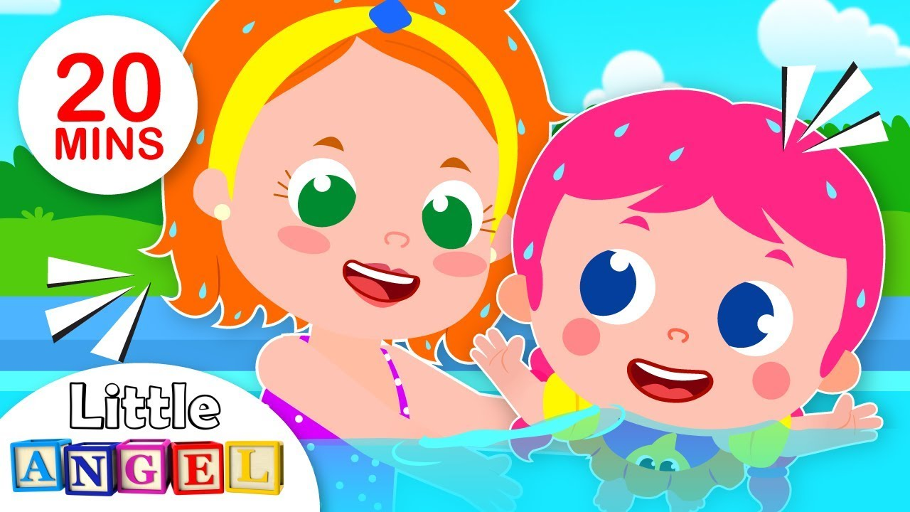 Baby Goes to the Pool | Swimming Safety Tips with Jill | Kids Songs & Nursery Rhymes by Little Angel