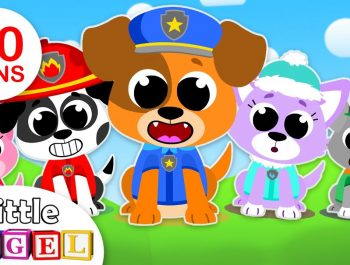 5 Little Puppies Peekaboo | Finger Family | Kids Songs & Nursery Rhymes by Little Angel
