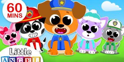 5 Little Puppies Peekaboo | Finger Family | Kids Songs & Nursery Rhymes by Little Angel