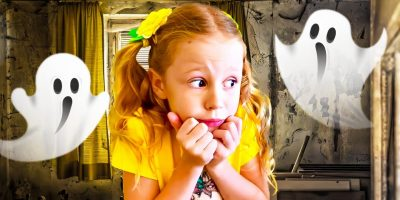 Nastya and bedtime story about dad sleepwalker
