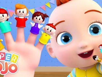 The Finger Family Song | Nursery Rhymes & Kids Songs by Super JoJo