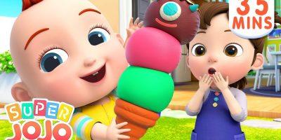 Ice Cream Song | Ice Cream For Kids + More Nursery Rhymes & Kids Songs – Super JoJo