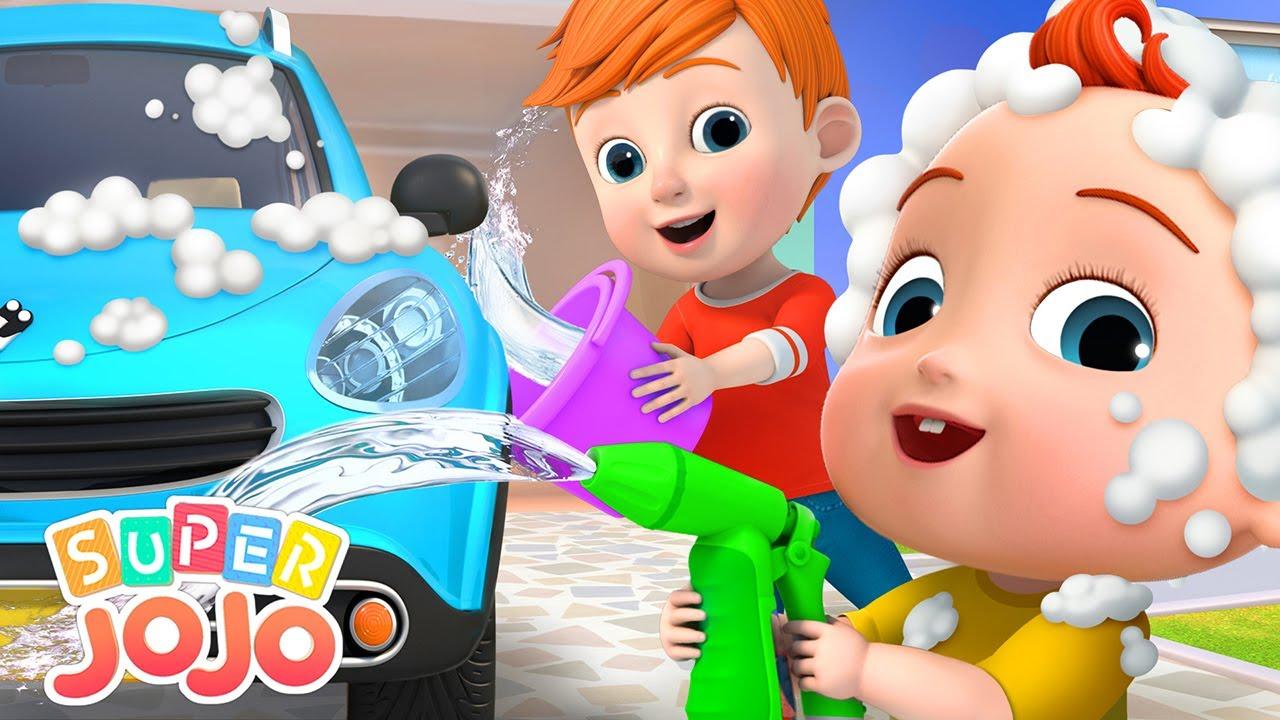 Car Wash Song | Super JoJo Nursery Rhymes & Kids Songs