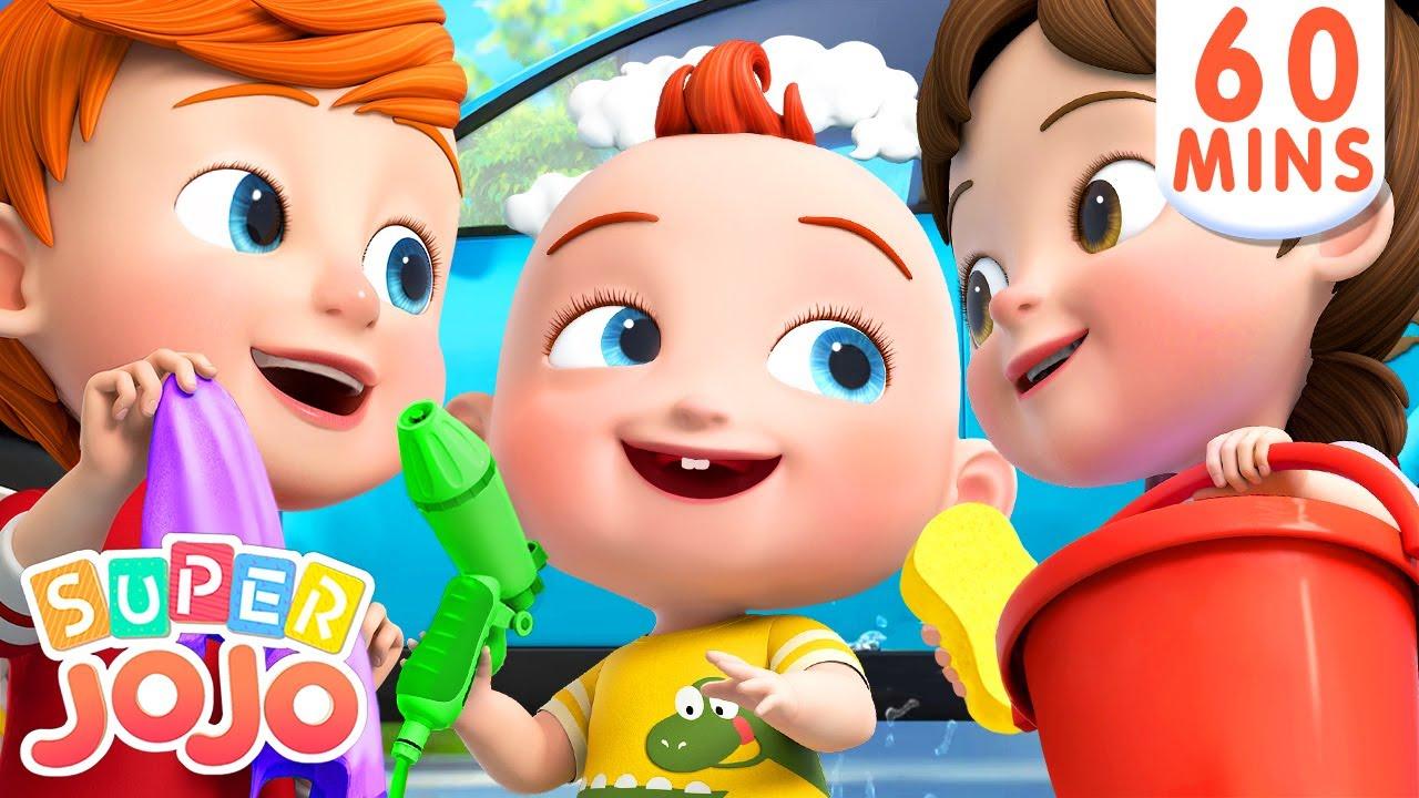 Car Wash Song + More Nursery Rhymes & Kids Songs – Super JoJo
