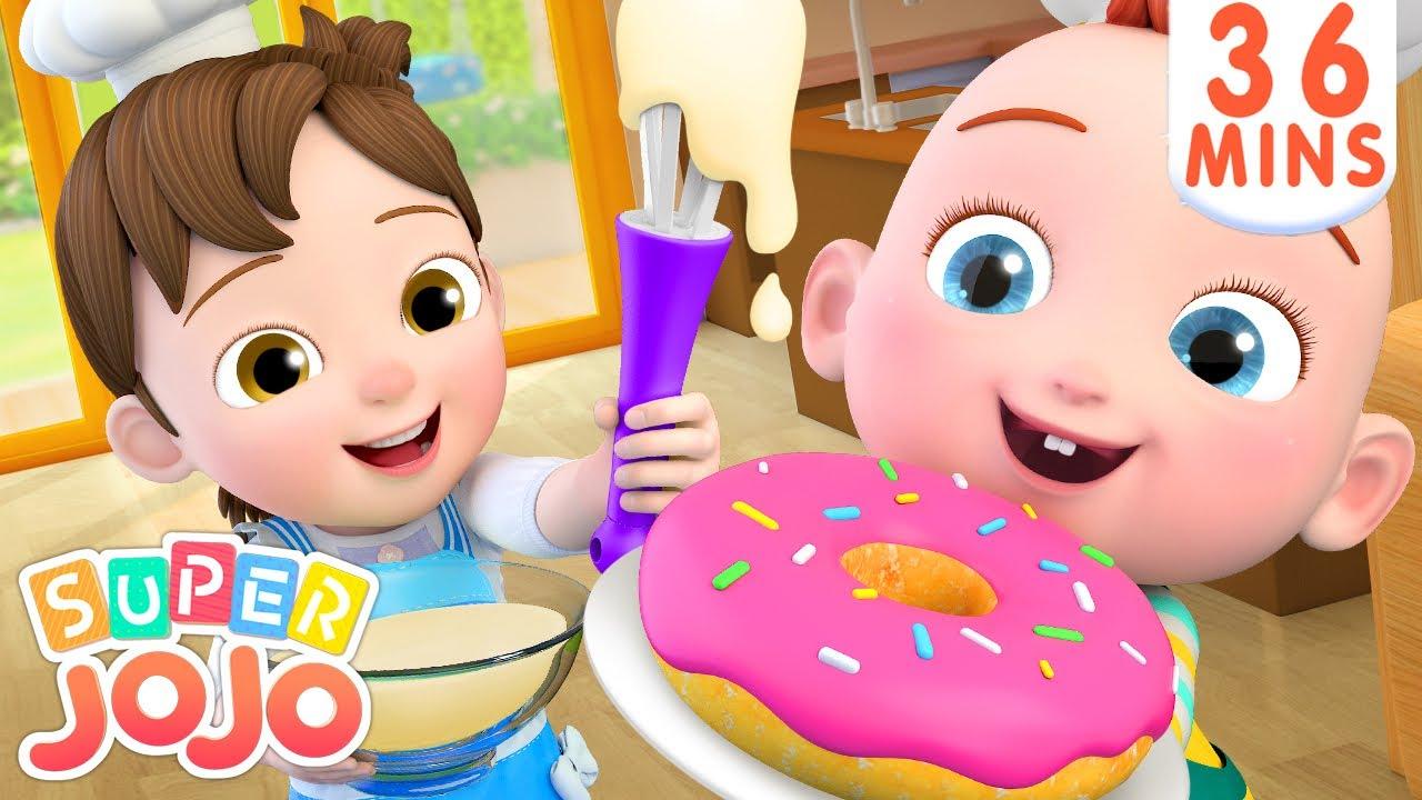 I Can Make Donuts Song + More Nursery Rhymes & Kids Songs – Super JoJo