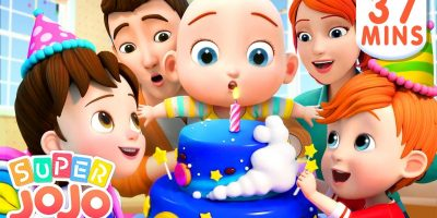 Happy Birthday Song + More Nursery Rhymes & Kids Songs – Super JoJo