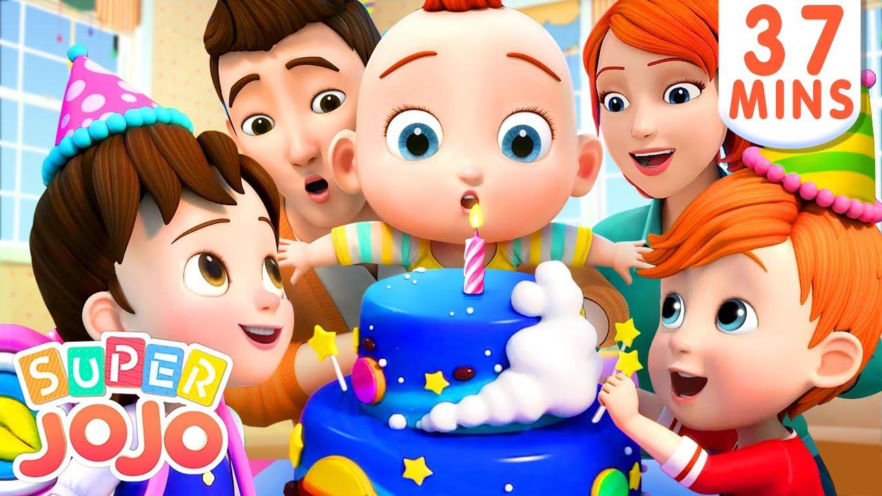 Happy Birthday Song + More Nursery Rhymes & Kids Songs – Super JoJo