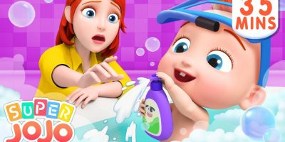 Baby Loves to Take a Bath | Bath Song | Baby Shark + More Nursery Rhymes & Kids Songs – Super JoJo