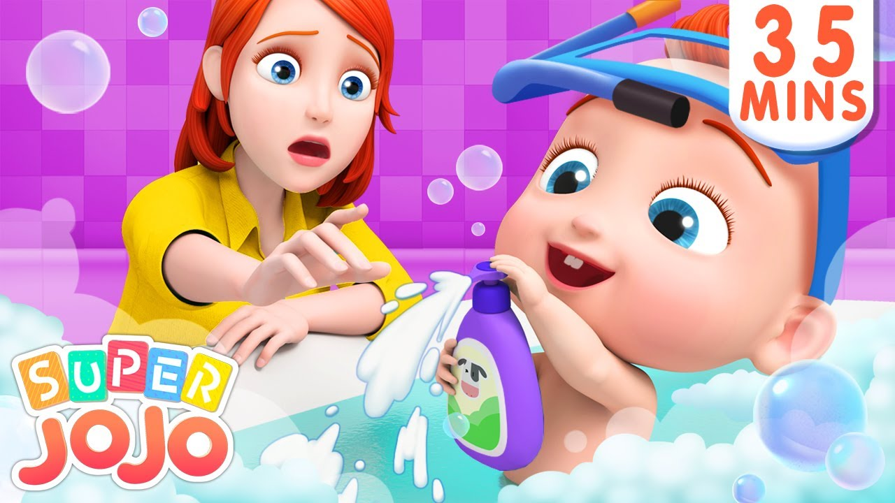 Baby Loves to Take a Bath | Bath Song | Baby Shark + More Nursery Rhymes & Kids Songs – Super JoJo