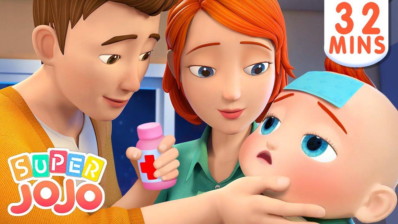 Sick Song | Boo Boo Song + More Nursery Rhymes & Kids Songs – Super JoJo