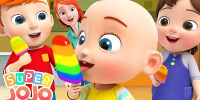 Rainbow Ice Cream – Colors Song | Learn Colors | Super JoJo Nursery Rhymes & Kids Songs