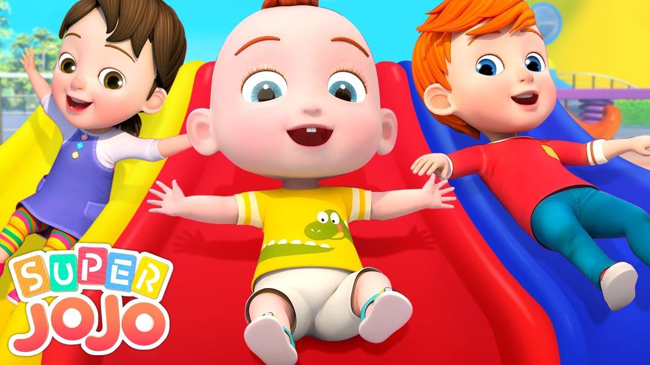 Playtime on the Slide   Playground Song   Super JoJo Nursery Rhymes & Kids Songs