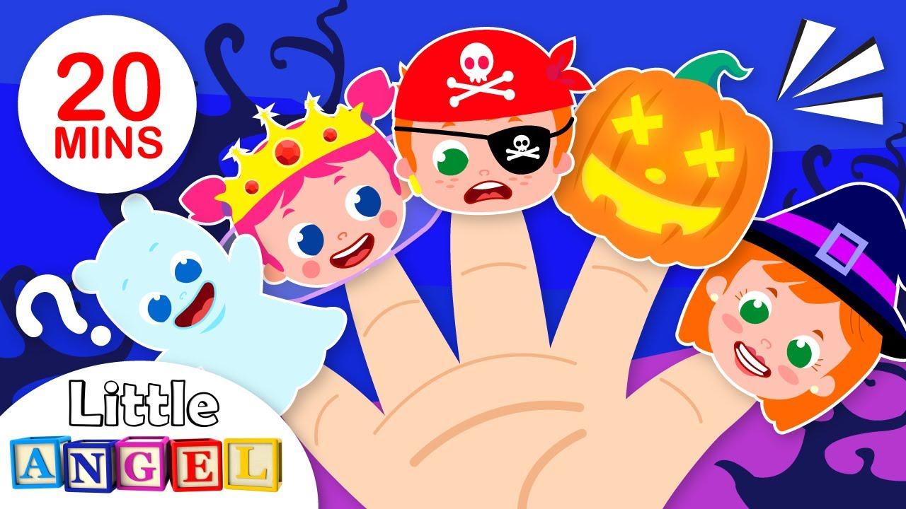 Finger Family Halloween Celebration   Trick or Treat   Nursery Rhymes & Kids Songs by Little Angel