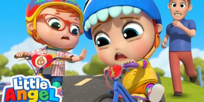Learn To Ride A Bike   Playing Safely   Little Angel Kids Songs