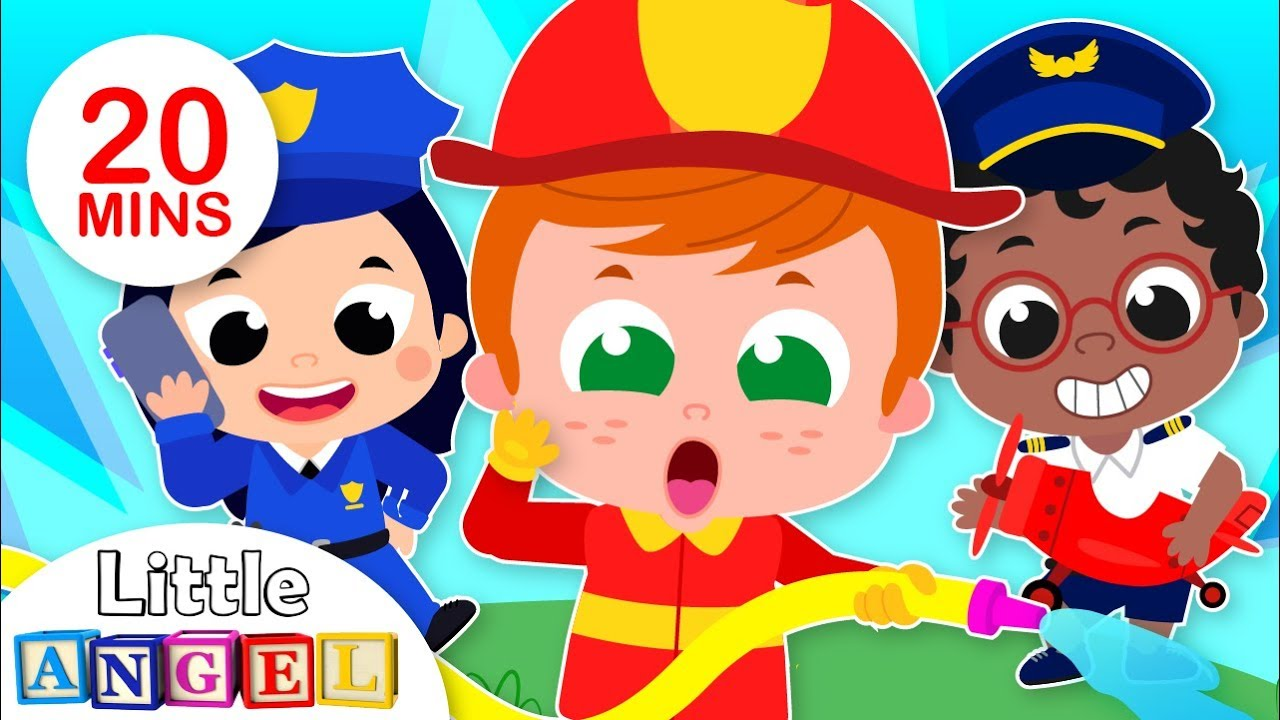 What Do You Want to Be? | Jobs & Occupations Song For Kids by Little Angel