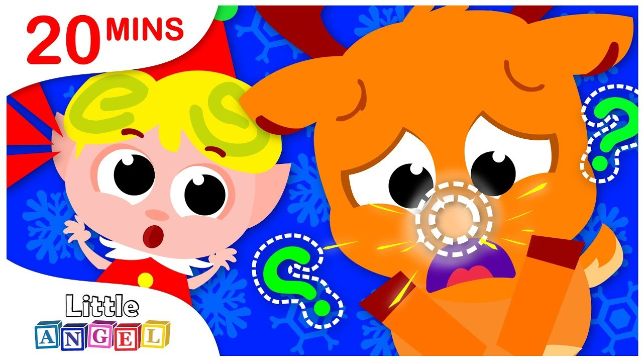 Where is Rudolph's Nose? No No Healthy Habits, Yum Yum Vegetables, Nursery Rhymes by Little Angel