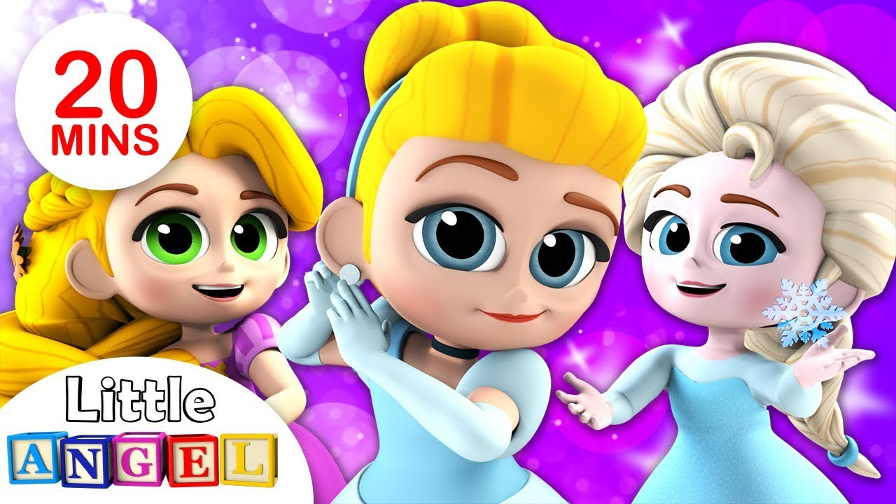 Disney Princesses Get Ready for the Ball! | Baby Panda Healthy Habits | Kids Songs by Little Angel