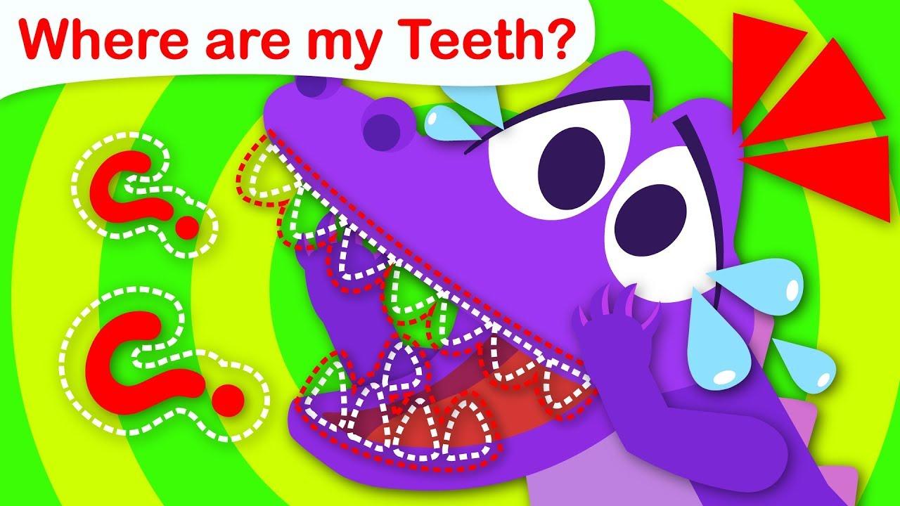 Where are my Teeth? Baby Crocodile Can't find his Baby Teeth | Nursery Rhymes by Little Angel