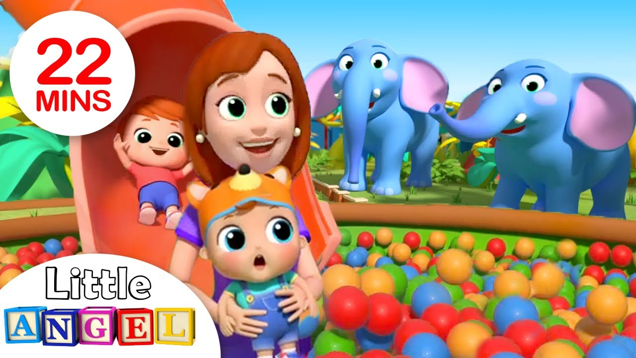 Zoo Song   Fun with Animals   Nursery Rhymes by Little Angel