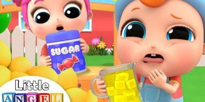 Let's Make Some Lemonade | Lemonade Stand Song | Little Angel Kids Song