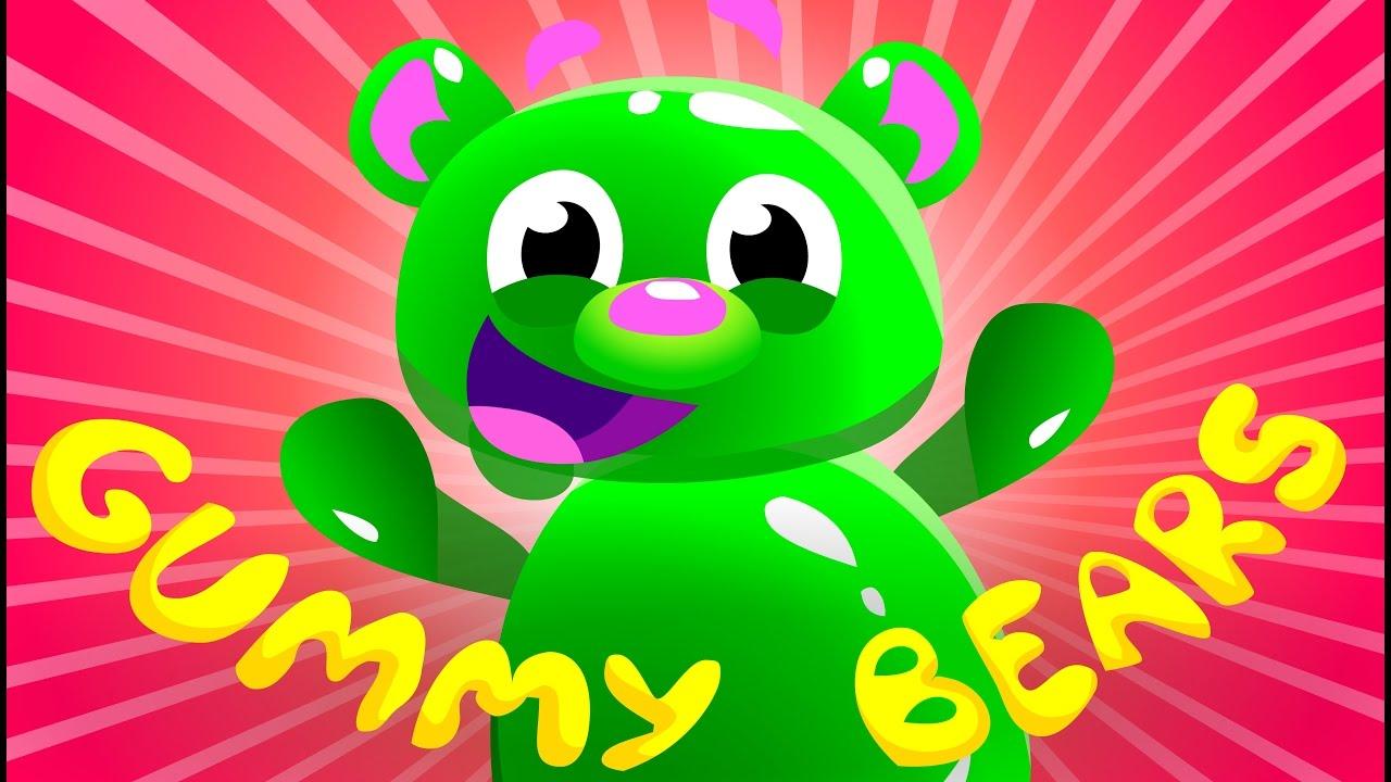 Mega Gummy Bear Song   Kids Songs   by Little Angel