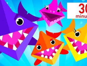 Baby Shark Origami Song + Baby Shark Doo Doo | Twinkle Twinkle | Kids Songs | by Little Angel