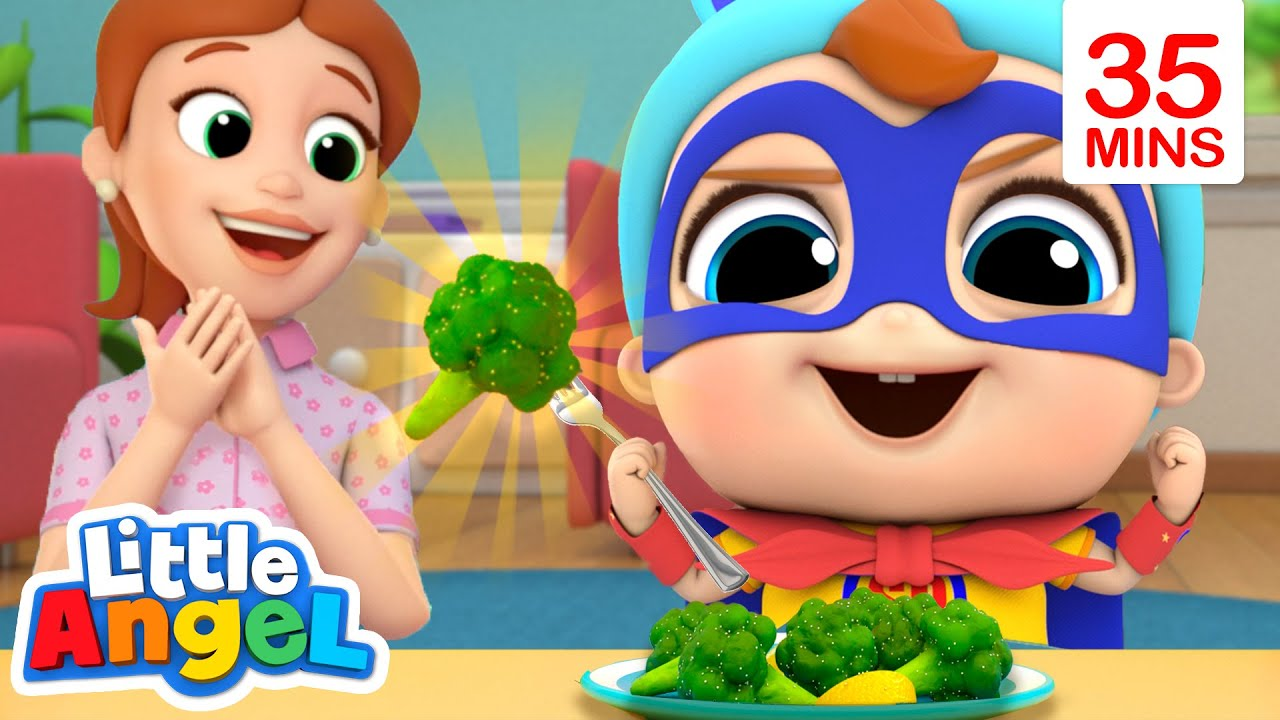 Yes Yes I Love Vegetables! | Little Angel Kids Songs & Nursery Rhymes