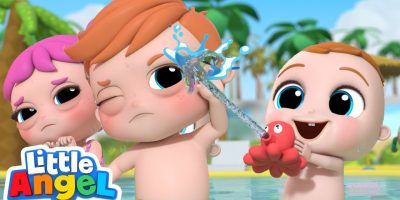 Splish, Splash, It's Pool Time! | Little Angel Kids Songs & Nursery Rhymes