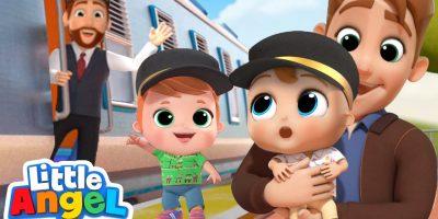 Choo Choo Train Song | Little Angel Kids Songs & Nursery Rhymes
