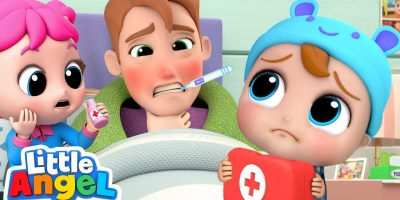 Daddy Got Sick   Baby John To The Rescue   Little Angel Kids Songs and Nursery Rhymes