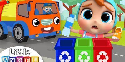 Garbage Truck Helps Us Clean Up Trash   Little Angel Nursery Rhymes & Kids Songs