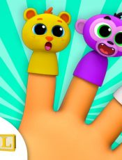 Finger Family Song ( Baby Animal Version) , Wheels on the Bus   Nursery Rhymes by Little Angel