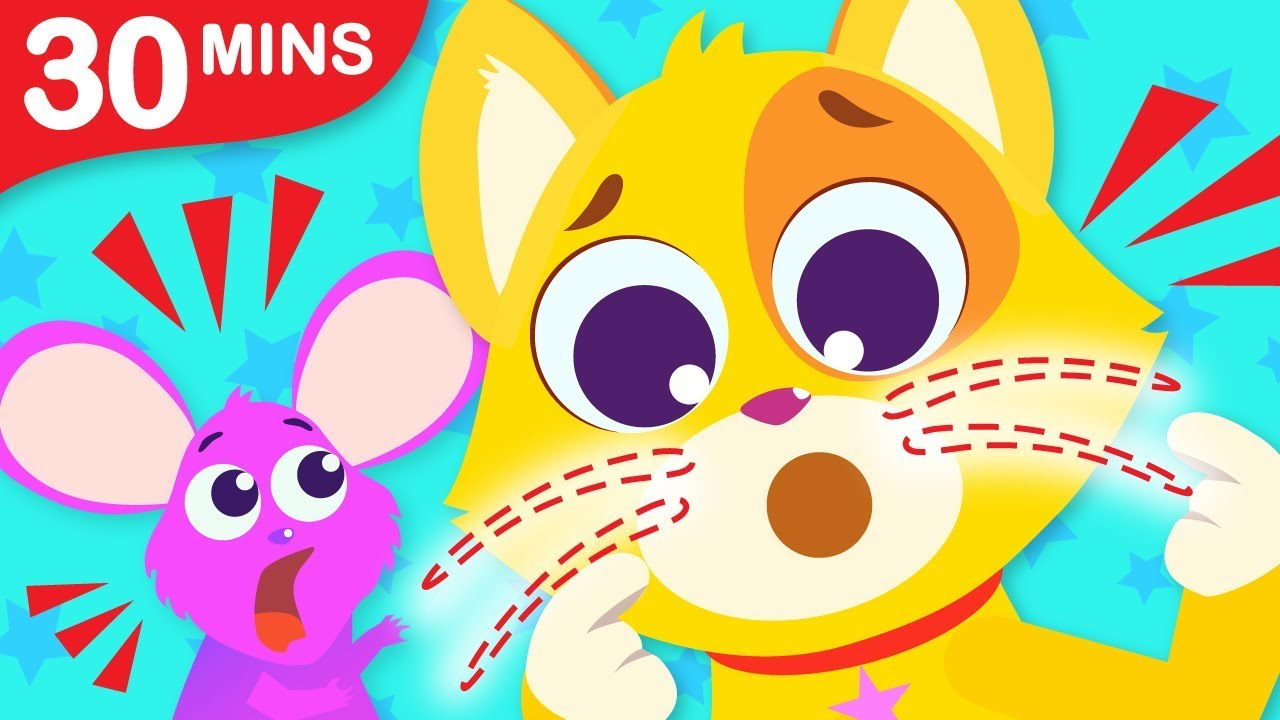 Where Are My Whiskers? | Where are My Stripes? | Fun Animal Kids Song Compilation by Little Angel