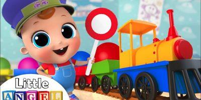Color Train Song   Little Angel Nursery Rhymes & Kids Songs