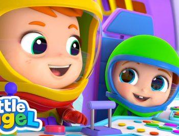 I Wanna Be An Astronaut!   A Space Song    Little Angel Kids Songs