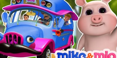 The Wheels on the Bus   Blue Wheels on the Bus   Nursery Rhymes Collection   YouTube Nursery Rhymes