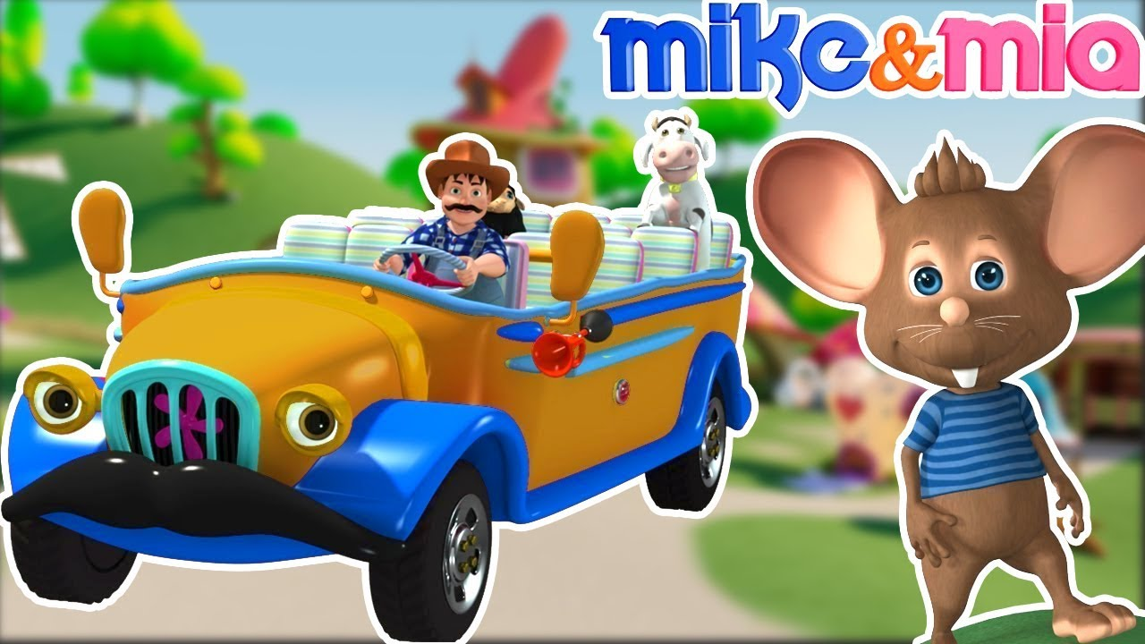 Wheels on the Bus | Chocolate Bus Song | Nursery Rhymes Playlist for Children by Mike and Mia