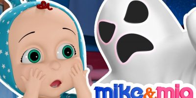 Ghost Wheels on The Bus | Spooky Wheels on The Bus | Nursery Rhymes by Mike and Mia