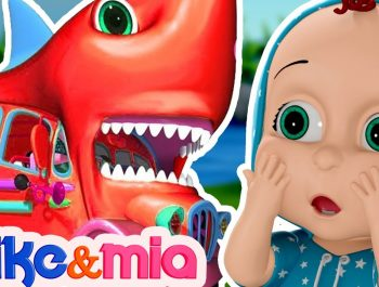 Baby Shark Wheels On the Bus | Baby Shark Doo Dooo | Nursery Rhymes by Mike and Mia