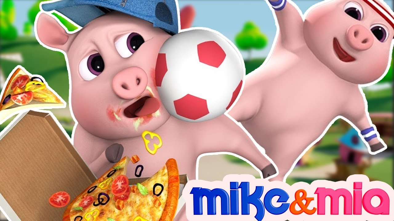 This Little Piggy Went to Market | Peppa Pig Nursery Rhymes | Kids Songs by Mike and Mia
