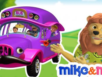 Wheels on the Bus | Purple Bus Song | Nursery Rhymes Collection | Kids Songs by Mike and Mia