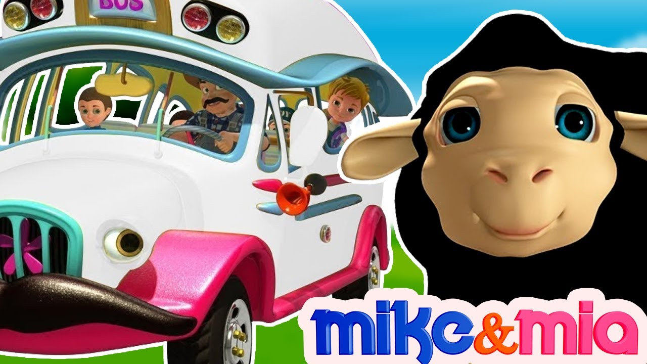 Wheels on the Bus | White Bus Song | Nursery Rhymes for Children | Kids Songs by Mike and Mia