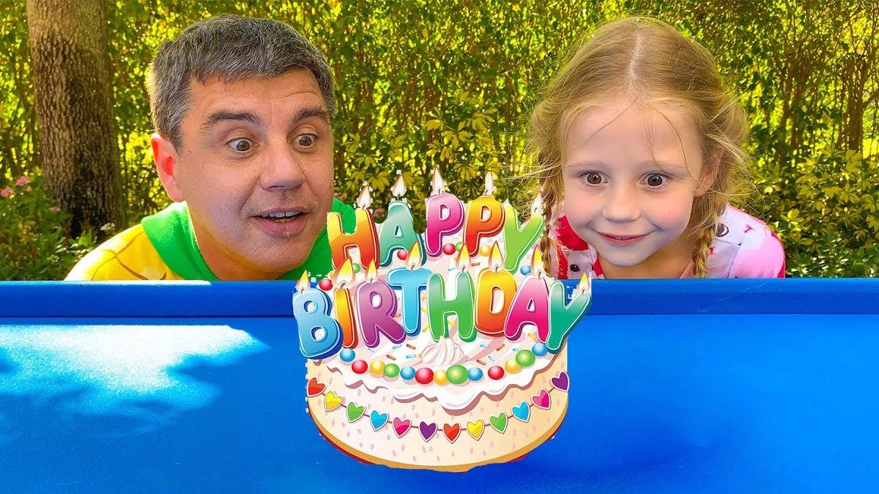 Nastya and dad celebrate their birthdays