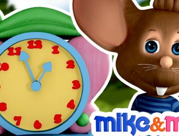 Hickory Dickory Dock Nursery Rhyme with Lyrics | Children Songs & Baby rhymes by Mike & Mia