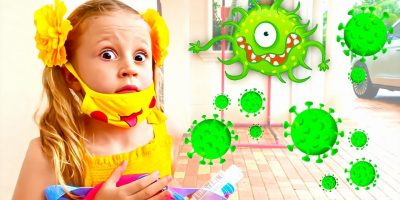 Nastya and the story of protection against the virus and bacteria