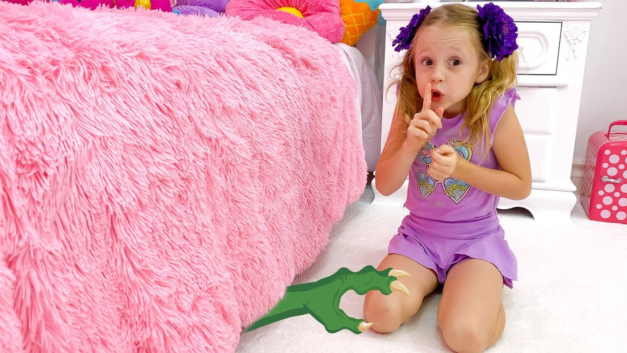 Nastya and dad – Monster under the bed story