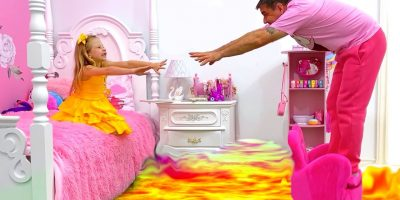 The Floor is Lava – story by Nastya and dad