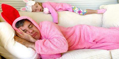 Nastya prevents dad from sleeping